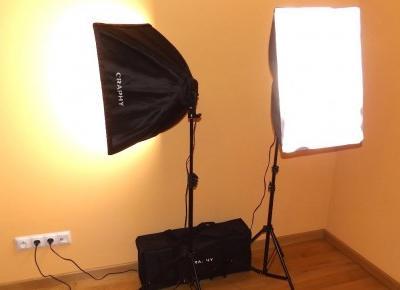 Zestaw do ciągłego oświetlenia Softbox firmy Craphy 10 x 45W