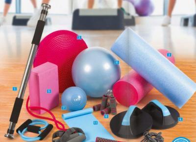 Akcesoria do ćwiczeń fitness z Biedronki