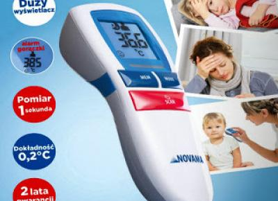 Bezdotykowy termometr Free Novama z Biedronki
