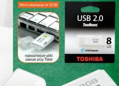 Pendrive 8 GB TOSHIBA z Biedronki