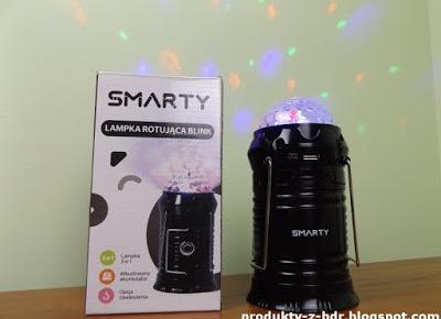 Testujemy produkty z Biedronki: Lampka rotująca Blink Smarty z Biedronki
