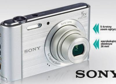 Aparat Sony DSC-W800 z Biedronki