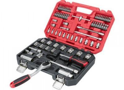 Co w Lidlu: Komplet kluczy nasadowych, 74 elementy Powerfix z Lidla