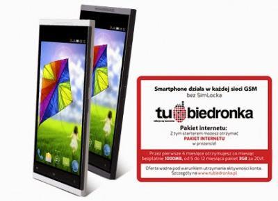 Smartphone Myphone Luna z Biedronki