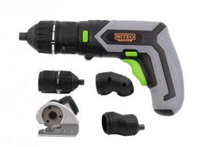 Wkrętak akumulatorowy 4 V z wymiennymi końcówkami Niteo Tools z Biedronki