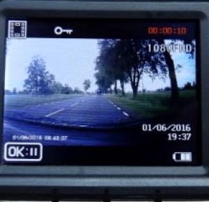 Test: Kamera samochodowa myEye Road Trip HD Hykker z Biedronki