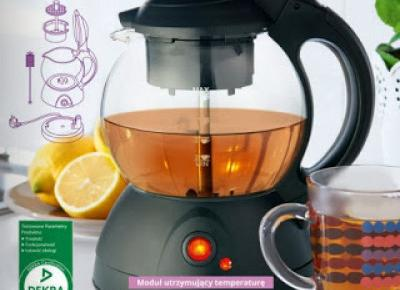 Elektryczny zaparzacz do herbaty z Biedronki