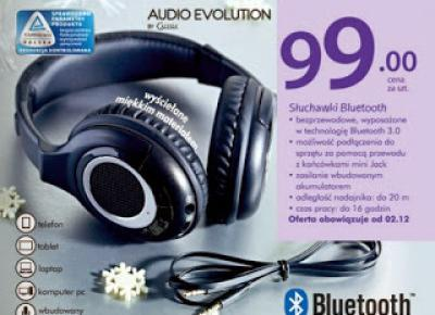 Słuchawki Bluetooth Audio Evolution By Calisia z Biedronki