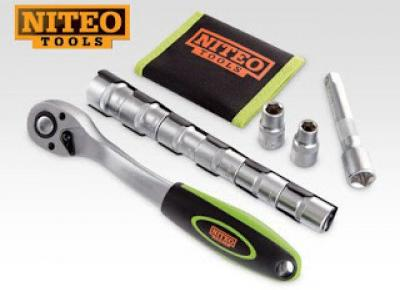 Klucz grzechotkowy z nasadkami Niteo Tools z Biedronki