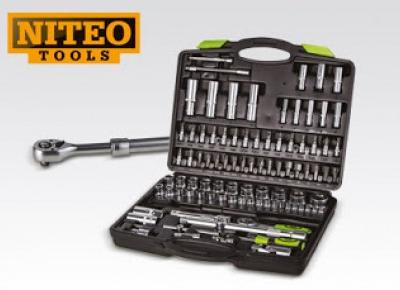 Zestaw kluczy nasadowych Cr-V Niteo Tools z Biedronki