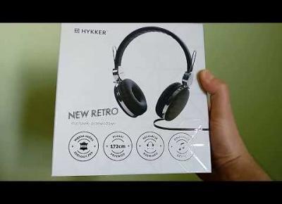 Słuchawki przewodowe Hykker New Retro z Biedronki