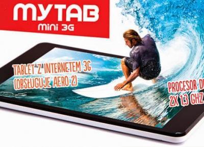 Tablet myTab Mini 3G z Biedronki