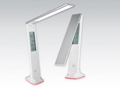 Lampa LED z zegarem LCD z Biedronki