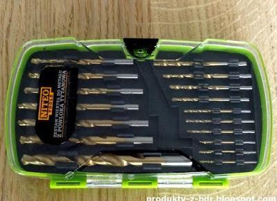 Testujemy produkty z Biedronki: Zestaw wierteł do metalu z powłoką tytanową Niteo Tools z Biedronki
