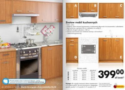 Zestaw mebli kuchennych z Biedronki