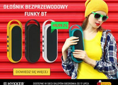 Bezprzewodowy głośnik Hykker Funky BT z Biedronki