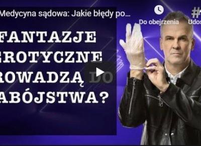 Internet zamiast telewizji: Kryminalna Polska