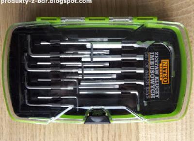 Zestaw kluczy imbusowych Niteo Tools z Biedronki