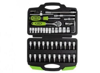 """Klucze samochodowe ¼"""" zestaw 46 części Niteo Tools z Biedronki"""