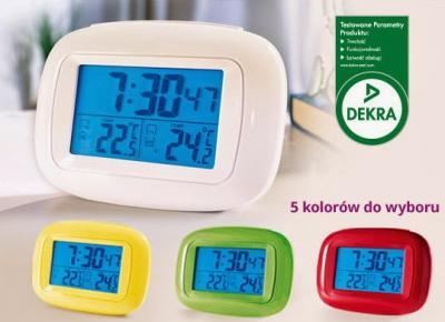 Budzik z funkcją termometru z Biedronki
