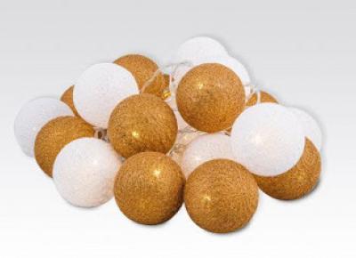 Kule świetlne LED Cotton Ball z Biedronki