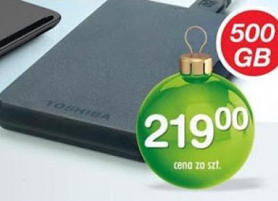 Dysk twardy Toshiba 500GB z Biedronki