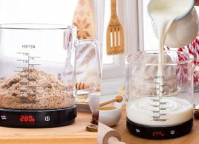 Waga kuchenna ze szklanym dzbankiem Hoffen z Biedronki