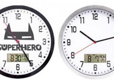 Zegar ścienny z termometrem i kalendarzem z Biedronki