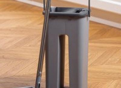 Mop płaski z wiadrem dwukomorowym z Biedronki