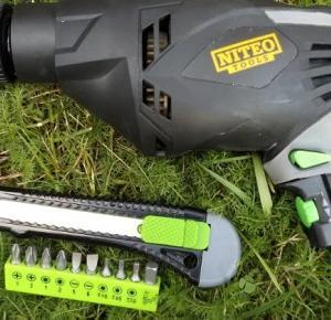 Test: Wiertarka udarowa 710 W Niteo Tools z zestawem wierteł z Biedronki