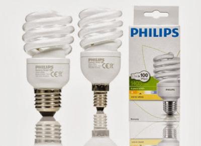 Świetlówki spiralne Philips z Biedronki