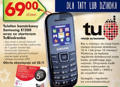 Telefon komórkowy Samsung E1200 z Biedronki