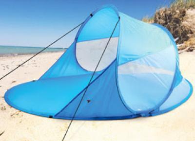 Samorozkładający namiot plażowy z Biedronki