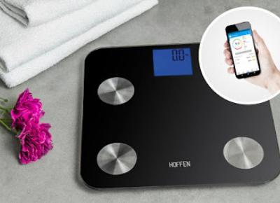 Waga łazienkowa smart z funkcją analizy Hoffen z Biedronki