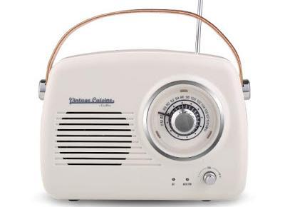 Radio z głośnikiem Bluetooth Vintage Cuisine z Biedronki