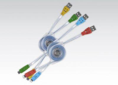 Świecący kabel USB z Biedronki