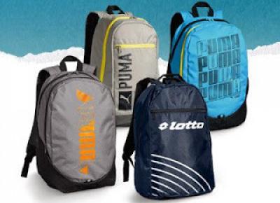 Markowy plecak młodzieżowy o pojemności 25 litrów Puma, Lotto, Fila, Nike, Adidas z Biedronki