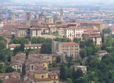 Reszta Polski i świata : Bergamo widziane z góry