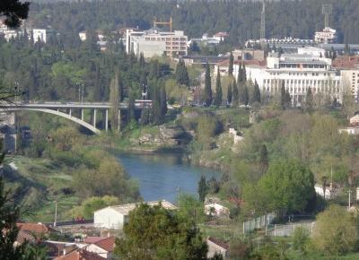 Podgorica - Stare Miasto i miejskie widoki z parku na wzgórzu