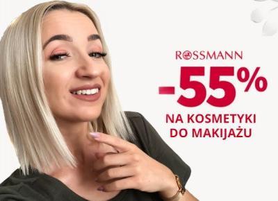 Kamila Ocieczek: Promocja Rossmann 55% na kosmetyki do makijażu