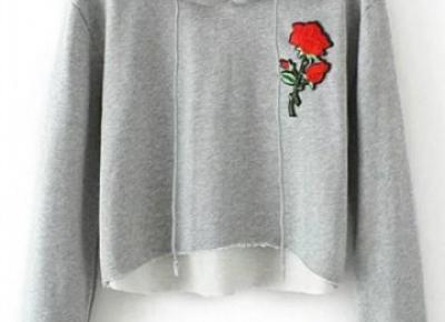 #73 Bluza w róże- Hooded Rose / Rosegal - Kanooshi