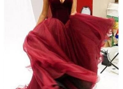 2017 Burgundy Velvet Prom Dresses Sweetheart Neck Long Princess Vintage Evening Gowns_Prom Dresses 2017_Prom Dresses_Special Occasion Dresses_Buy High Quality Dresses from Dress Factory - Babyonlinedr