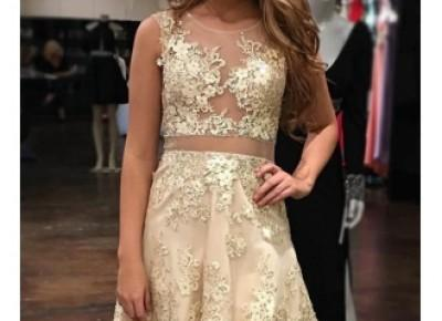 2017 Glamorous Scoop A-Line Sleeveless Appliques Tulle Homecoming Dress_Homecoming Dresses_Special Occasion Dresses_Buy High Quality Dresses from Dress Factory - Babyonlinedress.com
