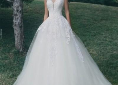 A-Line Appliques Glamorous Sleeveless Tulle Wedding Dress_Wedding Dresses 2017_Wedding Dresses_Buy High Quality Dresses from Dress Factory - Babyonlinedress.com