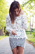 Beauty blog: Biała koronka w eleganckim wydaniu