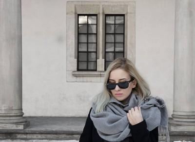 Grey scarf | Koszi