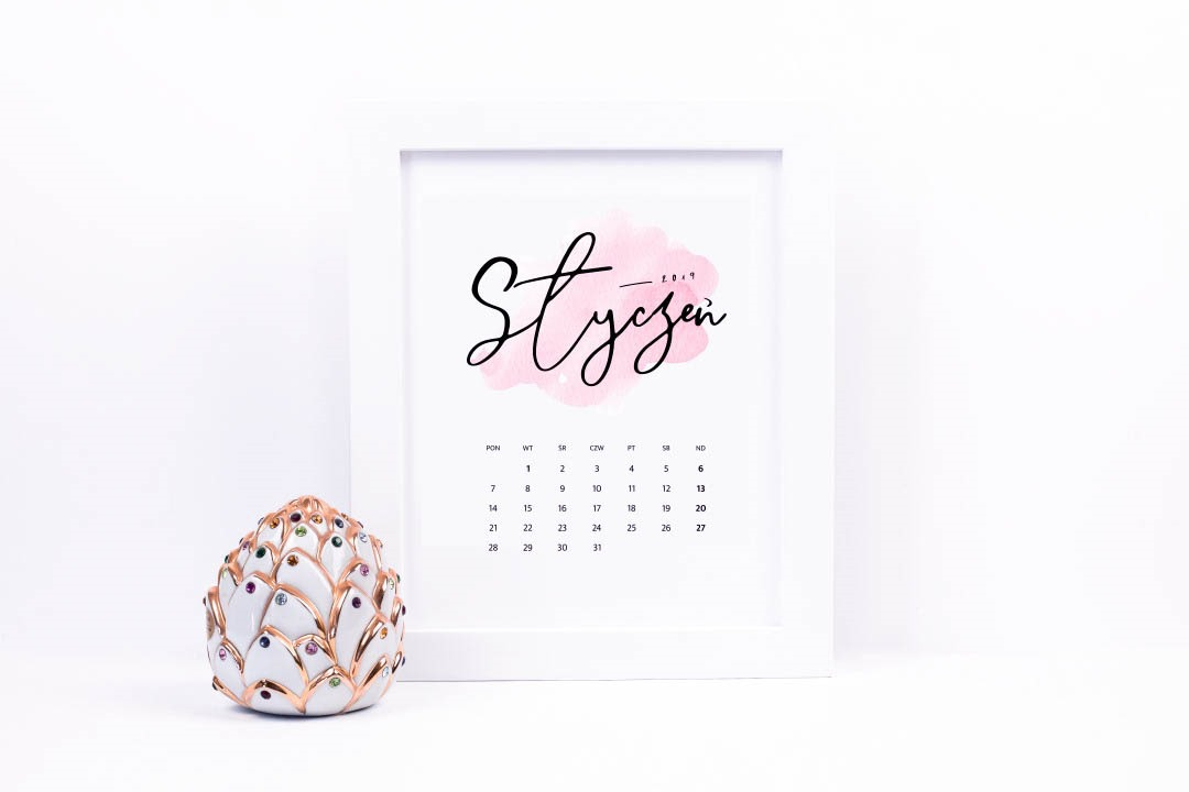 Kalendarz 2019 do druku, do pobrania za darmo {dwie wersje ♡} | Pasje Karoliny | w poszukiwaniu piękna - blog lifestyle