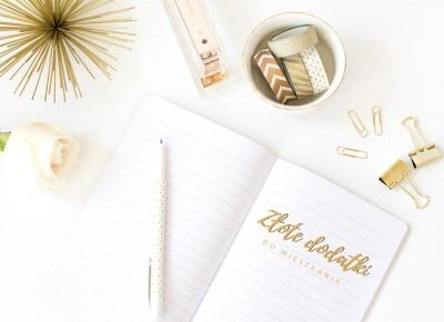 Złote dodatki do mieszkania (i nie tylko) {mini-przegląd dekoracji w kolorze gold&white}