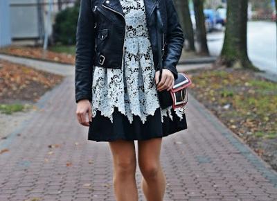 Koronkowa sukienka i czerwone szpilki | Karyn - Blog modowy o modzie i z pasją do mody