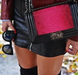 Skórzana spódnica i torba a'la Chanel | Karyn - Blog modowy o modzie i z pasją do mody